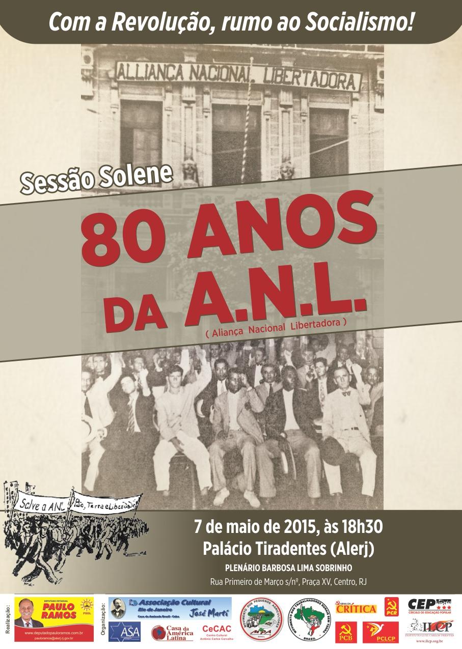 Sessão Solene: 80 anos da Aliança Nacional Libertadora (ANL)