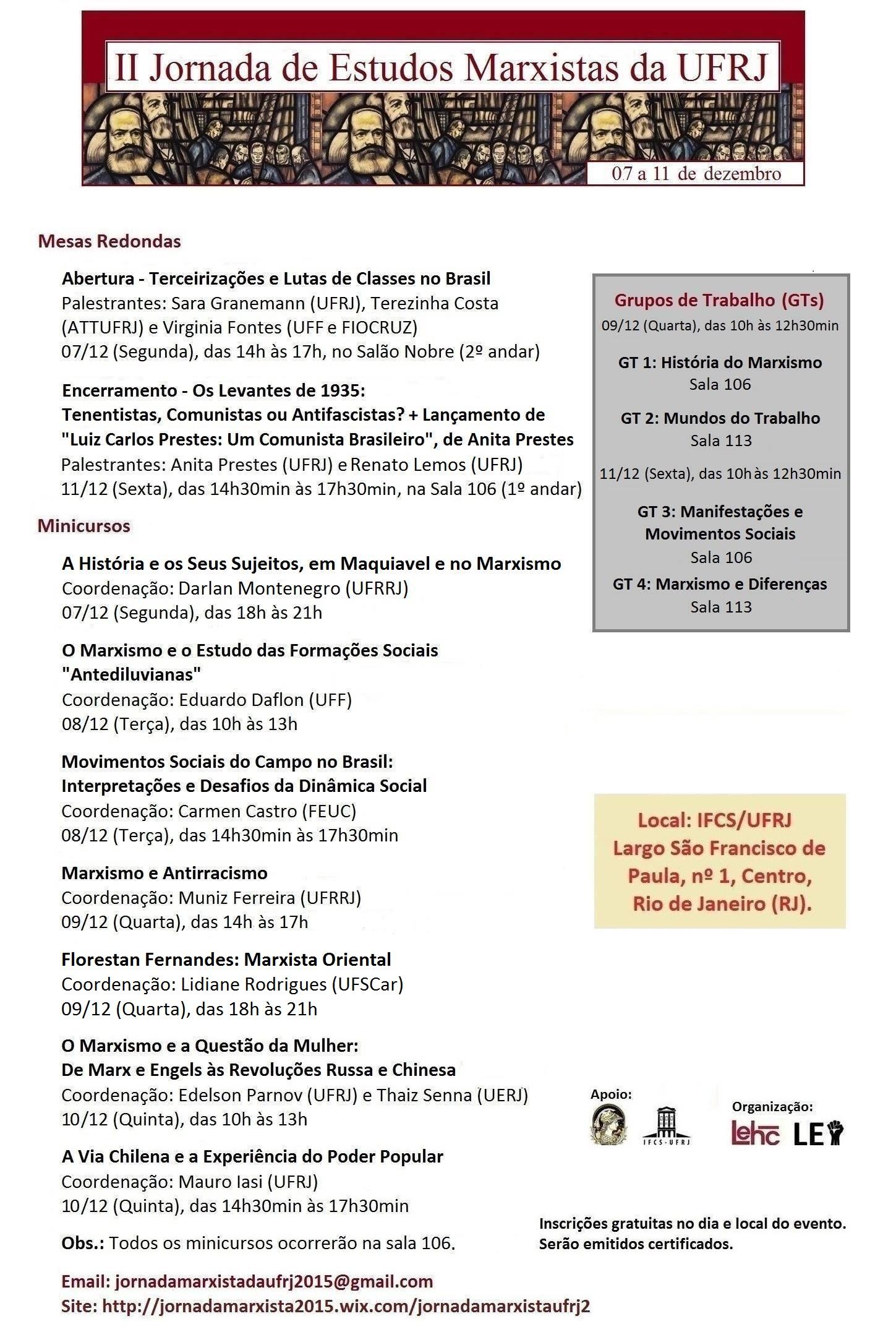 II Jornada de Estudos Marxistas da UFRJ