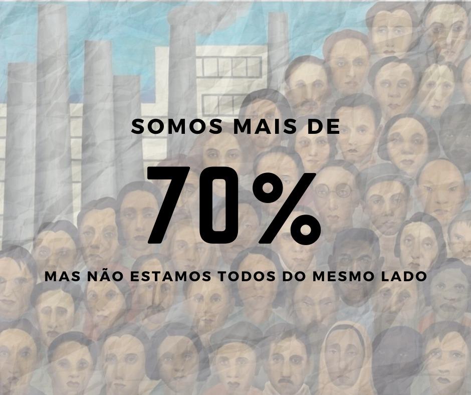 Somos mais de 70%, mas não estamos do mesmo lado.