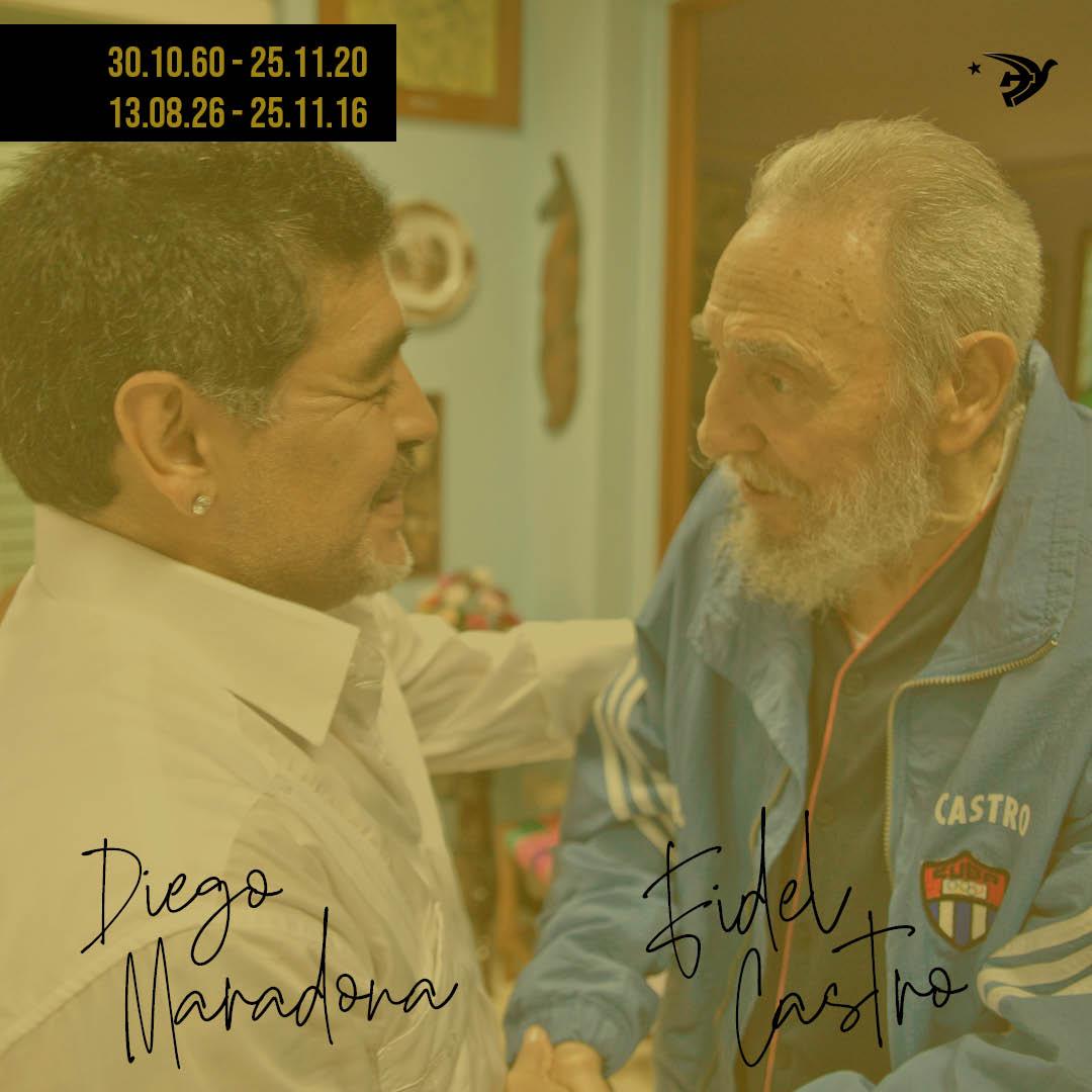 Adeus Maradona! Adeus Fidel Castro!