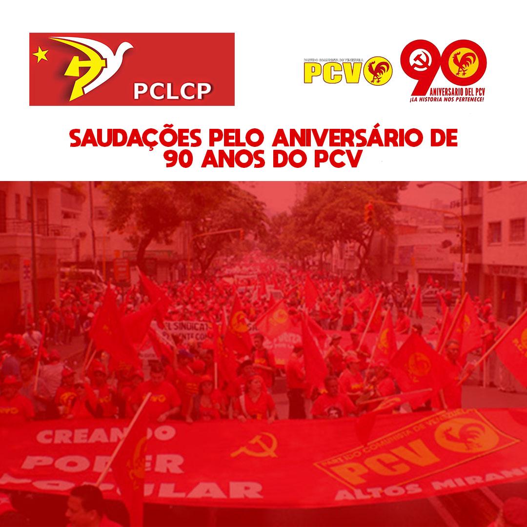 Saludos por los 90 años Partido Comunista de Venezuela