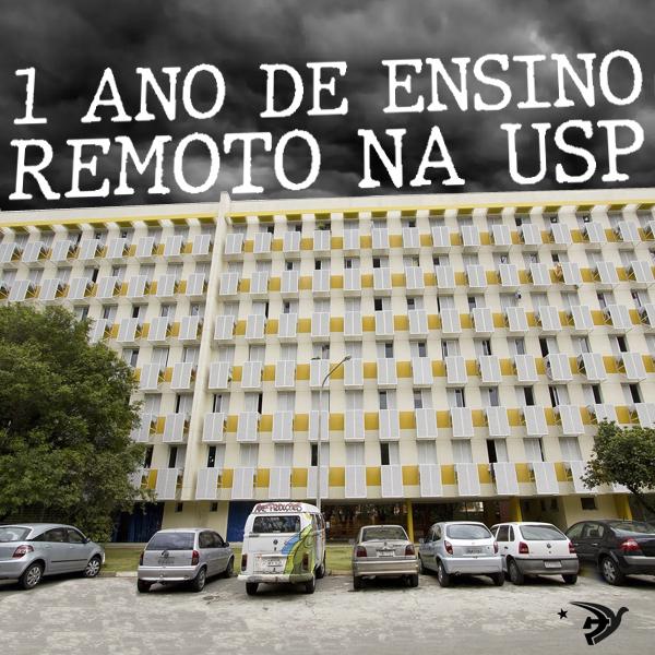 Balanço da Juventude Comunista Avançando sobre 1 ano de ensino remoto na USP
